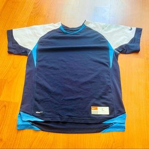 Nike Team Blue and White Athletic T-shirt Size L